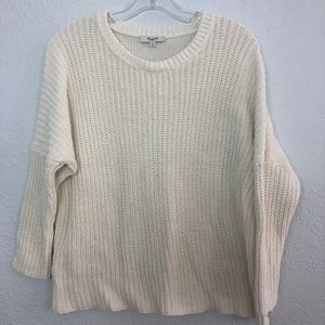 Madewell Creme Knt Sweater 3/4 Dolman Sleeves